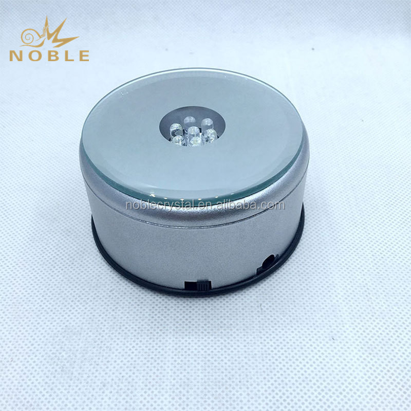 High Quality Rotating Round MP3 Music Singing Led Light Base for Crystal Trophy