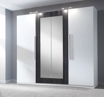 Wooden Aluminium Bedroom Wardrobe Designs White Black Nut