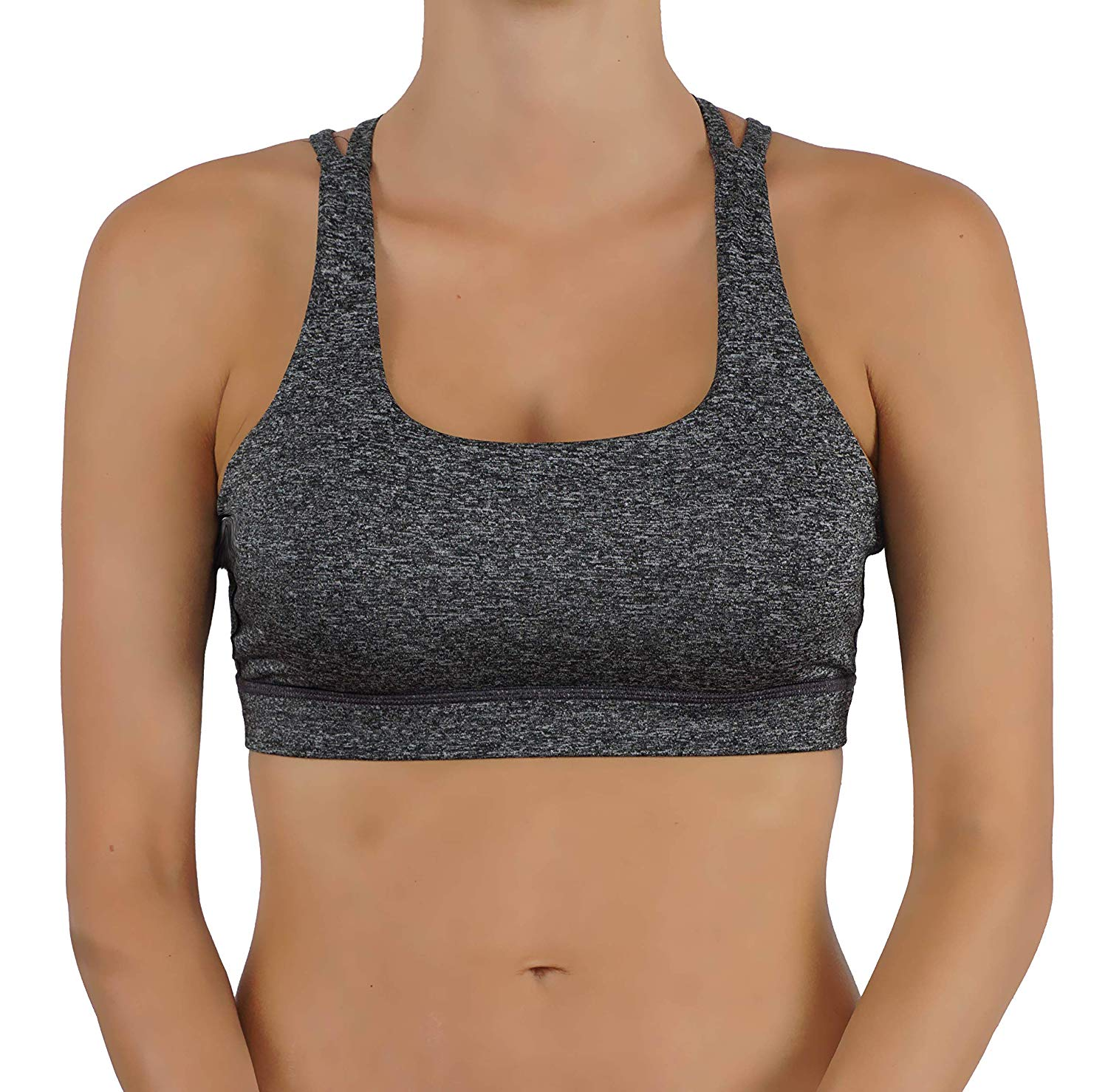 6cf5377700 Get Quotations · Vibrant Vixen Women s Yoga Bra with Removable Pads and Criss  Cross Back Sports Fashion Top