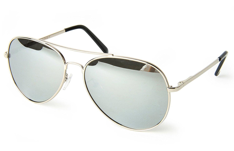 bebb268e9b Get Quotations · corciova Reflective Revo Large Horn Rimmed Style Uv400  Wayfarer Mirror Sunglasses