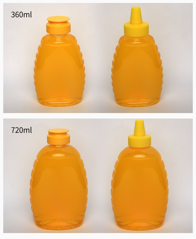 China suppliers 180ml clear PET plastic squeeze bottle for honey
