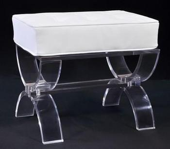 "Factory supply Acrylic funiture 3/4"" Clear Acrylic seating Bench ."