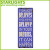 Customized design Europe style mdf+paper hanging purple wall plaques