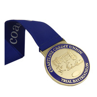 cheap price high quantity soft enamel medal with laser year