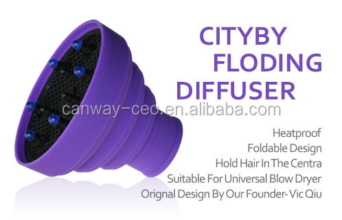 collapsible foldable silicone material hair diffuser for hair dryer