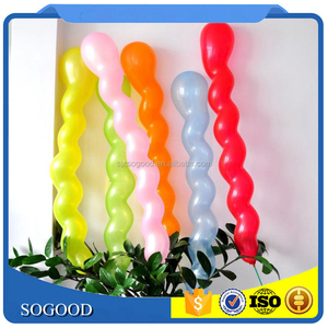 inflatable latex rubber spiral twisting balloons for wedding birthday party DIY decoration screw latex balloon
