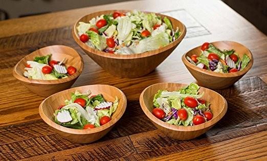 Wholesales cheap practical customized bamboo salad bowl 9
