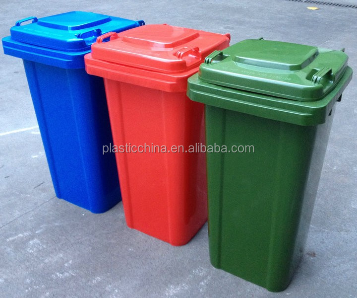 Green Plastic 120L innovative Wheelie industrial waste bins