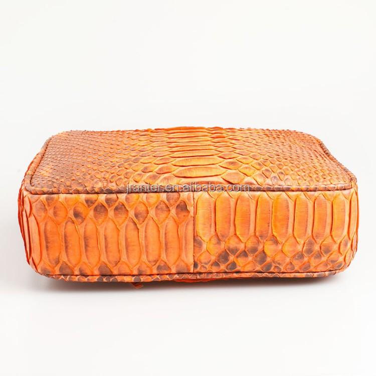 Exotic Skin Handbags Snake Skin Bag Natural Genuine Python Snake Leather  Crossbody Shoulder Bag Purse 69791786a9