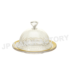 "JP-6407 4.7"" Crystal Clear Mini plastic Dome cover with Diamond handle"