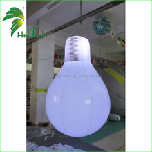 inflatable new invention snow globe lamp bulb / inflatable led light shape balloon