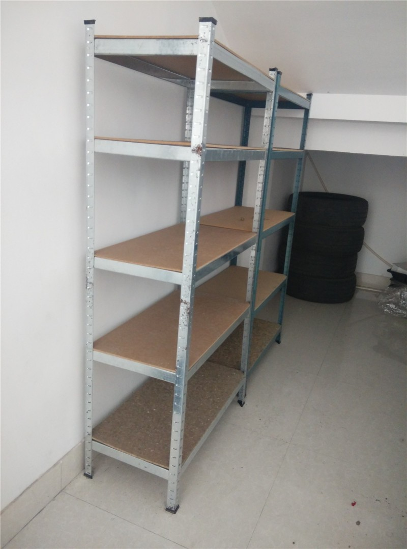 5 Tier Wire supermarket shelf gray coating Adjustable Steel Metal Shelf