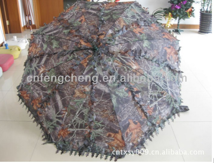 Straw Beach Umbrella Camo