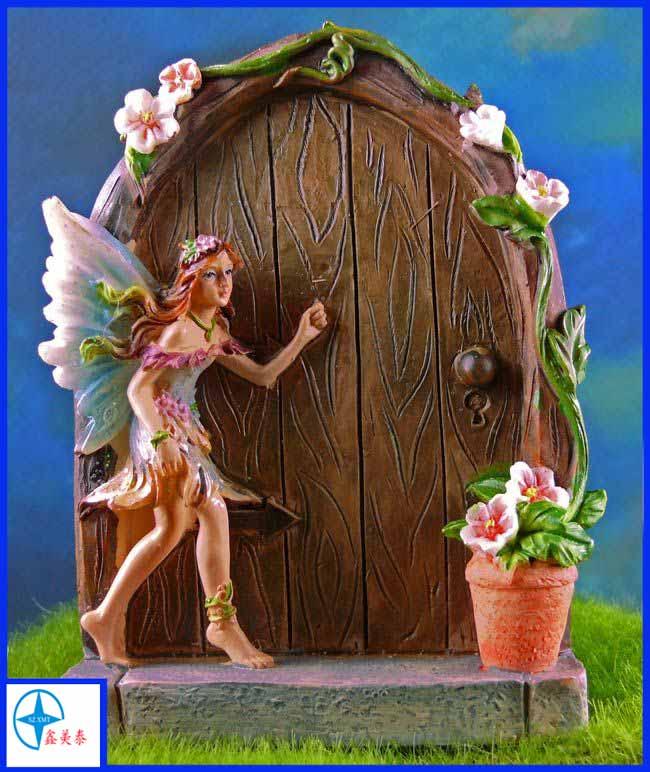 Custom size closet fairy doors mysterious resin door for Secret fairy doors by blingderella