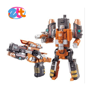 metal gun transform robot with soft bullet , deformation robot and gun