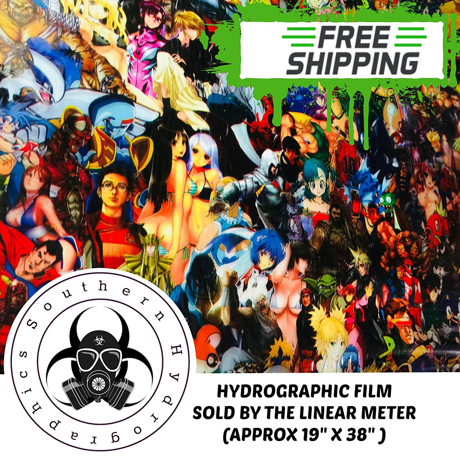 HYDROGRAPHIC WATER TRANSFER HYDRO DIP FULL KIT ACTIVATOR DETECTIVE COMICS FILM