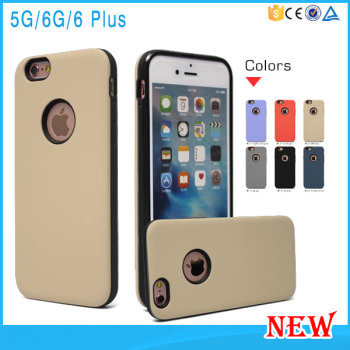 Two In One PC TPU Mobile Phone Case Soft Skin For iPhone 6/7 6Plus 7Plus Case