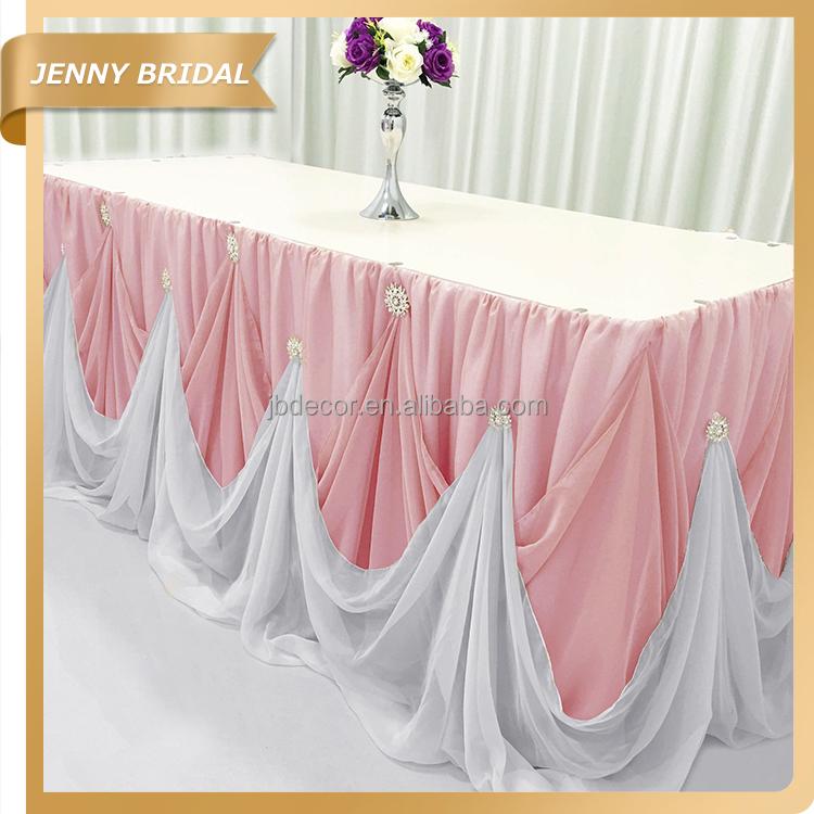 Tc106k Hot Popular Chiffon Table Skirting Designs For Weddings   Buy Table  Skirt,Table Skirting Weddings,Table Skirting Designs For Weddings Product  On ...