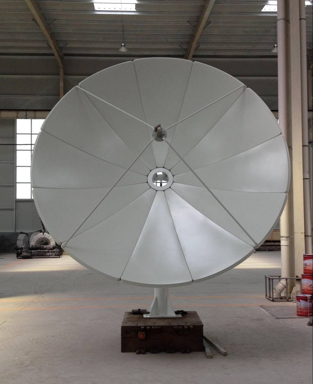 hd digital tv c band satellite dish antenna steel plate panel solid paraboloid. Black Bedroom Furniture Sets. Home Design Ideas