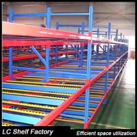 Warehouse metal storage gravity roller rack system carton flow rack
