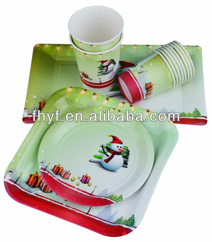 Christmas Design Food Grade Shaped Paper Plates Cups /party Table Ware Sets - Buy Party TablewareBlue Plate Table SettingC&ing Plates Cups Product on ...  sc 1 st  Alibaba & Christmas Design Food Grade Shaped Paper Plates Cups /party Table ...