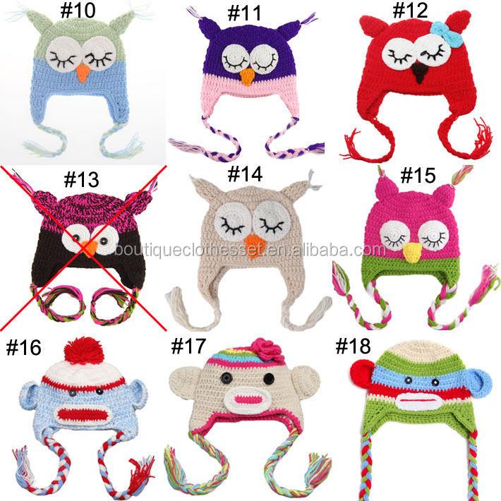 No Moq! Al Por Mayor Cabritos Crochet Beanie Sombrero Nuevo Diseño ...