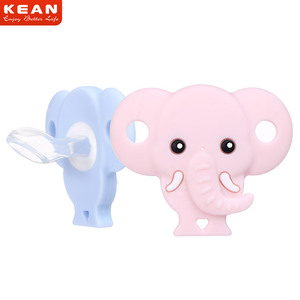 Free Sample New Products Non-toxic BPA Free Elephant Shape Silicone Baby Teething Pacifier