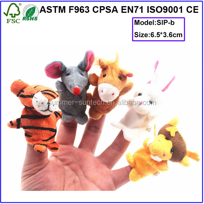 New design funny animal cartoon mouse plush finger puppet customized stuffed finger toys