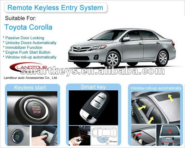 Passive Keyless Entry System For Toyota Corolla - Buy Passive ...