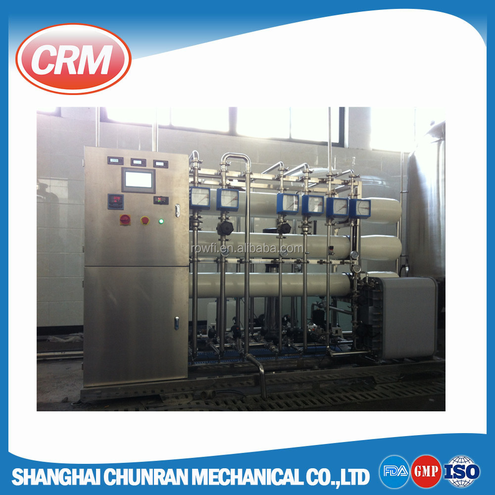 ro membrane salt water treatment unit / equipment / system with double FRP softener
