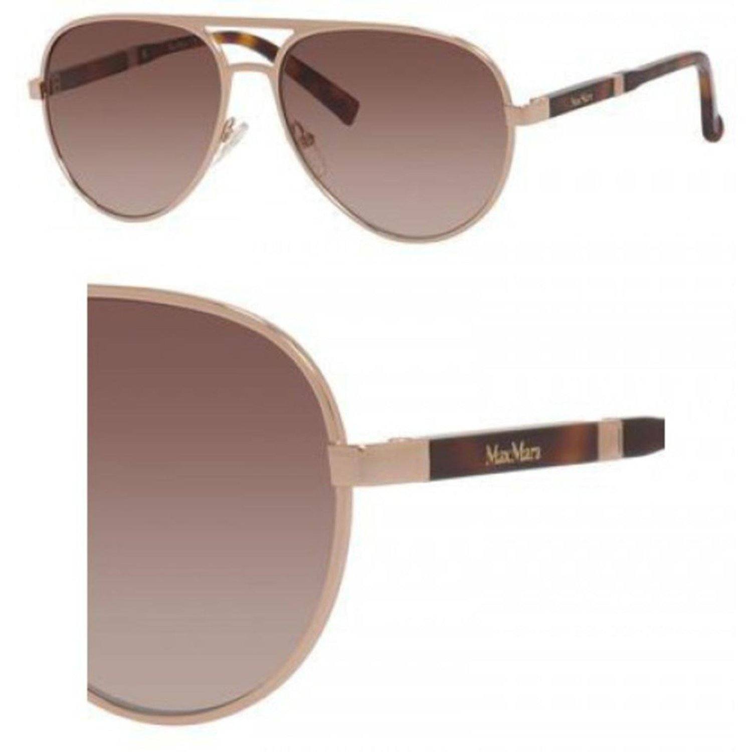 8c931aa1fb4 Get Quotations · Max Mara Max Mara Design S 0000 Rose Gold JD brown  gradient lens Sunglasses