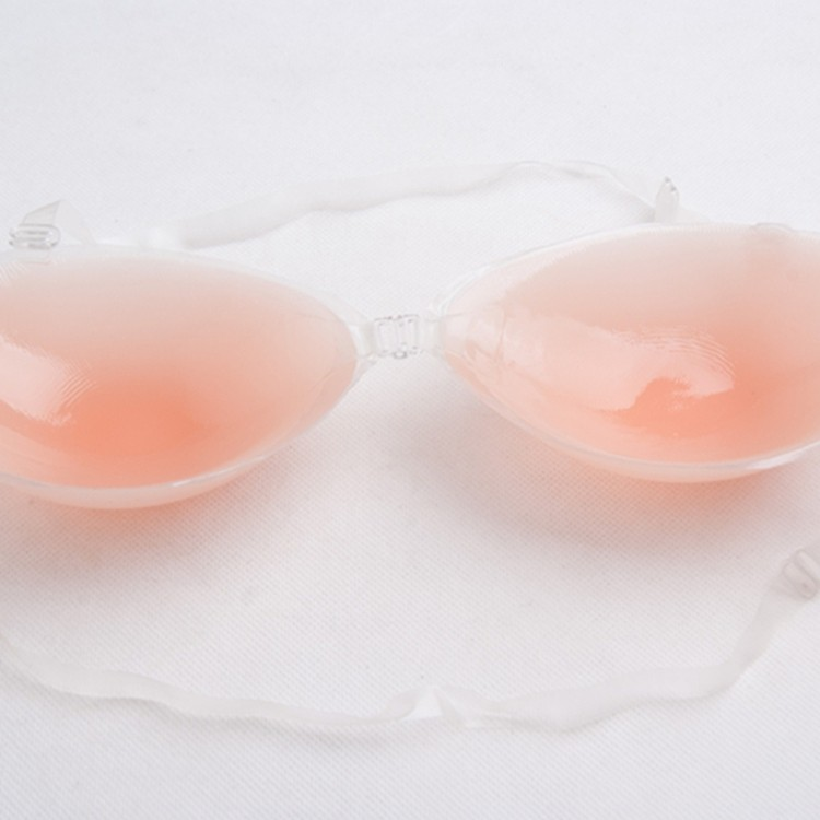 Sexy Girl Self Adhesive Silicone Backless Bra with Straps