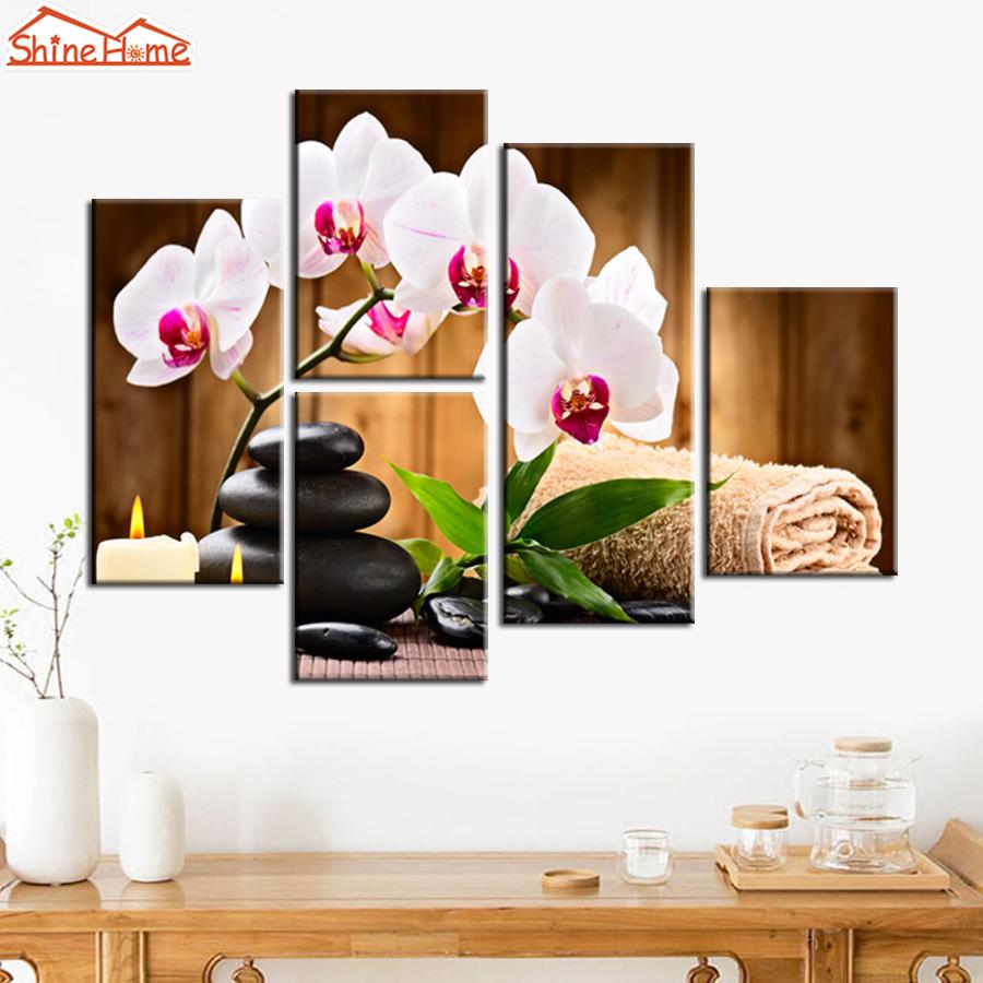 Shinehome 4pcs Wall Art Canvas Painting Printing Spa Yoga: Popular Massage Zen-Buy Cheap Massage Zen Lots From China