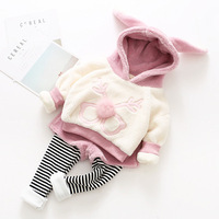 2017 New Arrival newborn baby girls clothes sports leisure winter clothing set
