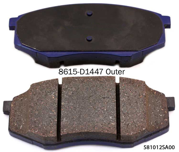 Different Models of D1447 semimetal car brake pad Best price high quality