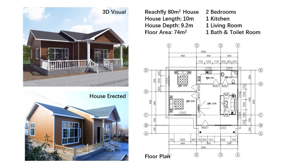 China 2 Bedroom Modular Houses Modern Cheap Prefabricated