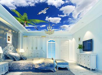 Blue Sky White Cloud Ceiling Wallpaper Murals
