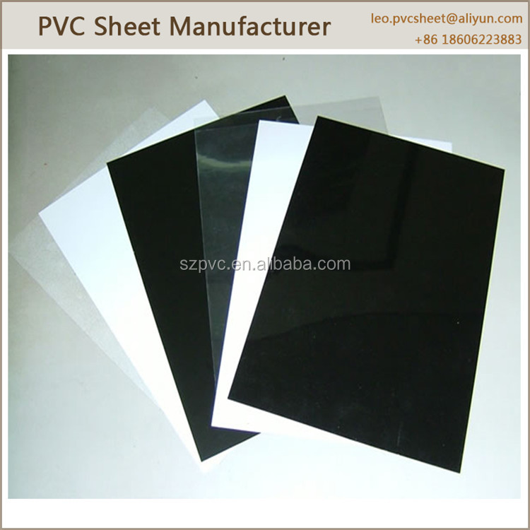 Black Glossy Pvc Rigid Plastic Sheet For Stationary Buy