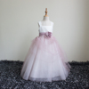 Real Photos Kids Flower Girl Dresses Ceremony Child Dress Sleeveless TuTu Dress for 2-12 Years