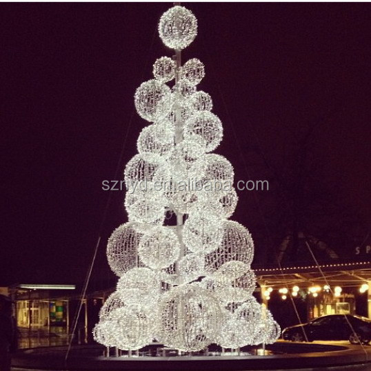 Giant led christmas ball tree for outdoor decoration for White outdoor christmas decorations