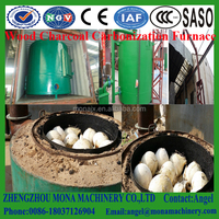Professional wood and wood logs air flow carbonize furnace for sale