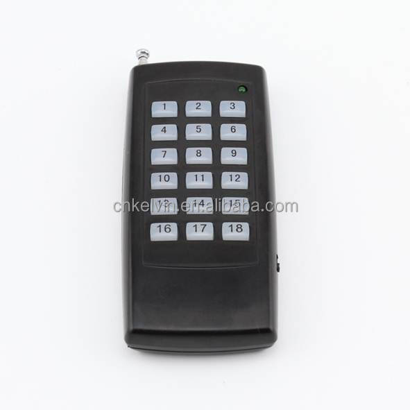 Universal use18 Buttons ASK/OOK/FSK Wireless RF Remote Control KL1000-18FSK