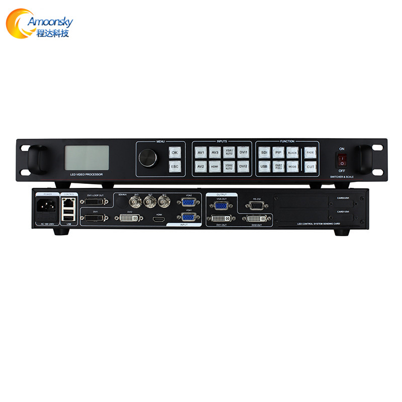 Easy operation AMS-LVP815 led video processor full color project video processor box led controller for advertising billboard