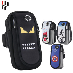 Unisex Running sports Arm Bags Pouch Portable Armband Adjustable Arms Package Cell Wrist Wallet Band Mobile phone bag & Case