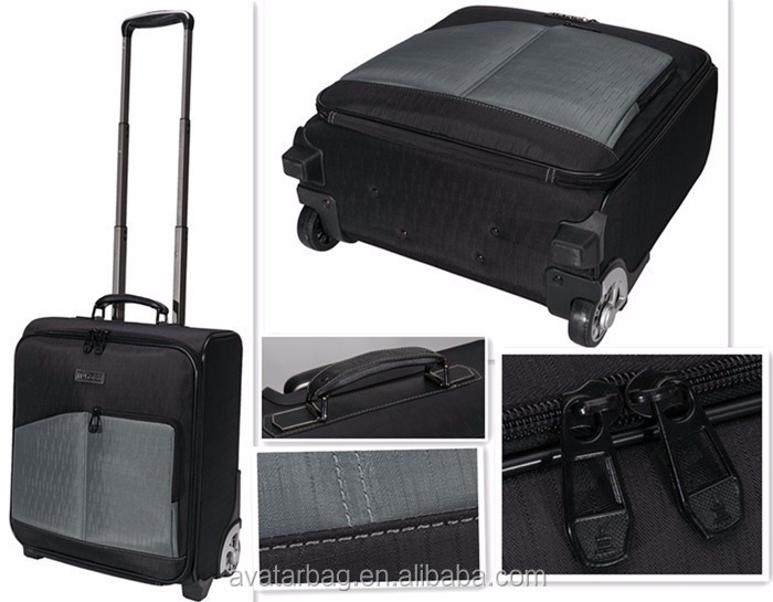 "polyster customized Travel Bag on Wheels luggage bag for 14"" 15"" 15.6"" 17"" inches Laptop"