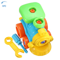 XFC Children DIY Assembled Toy Car with Tool Clamp and Screwdriver 3D Puzzle Train Educational Toy