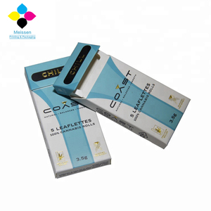 Commonly used cardboard cigarette packaging box with Aluminum foil paper