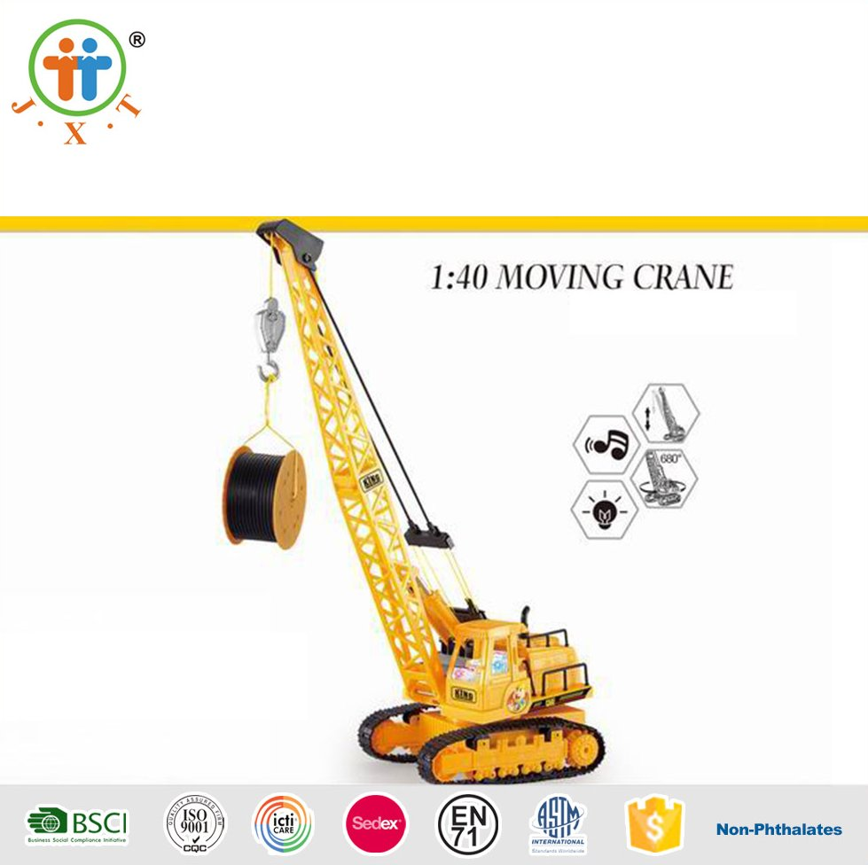 Newest moving crane cars 1:30 remote control toy with rechargeable battery