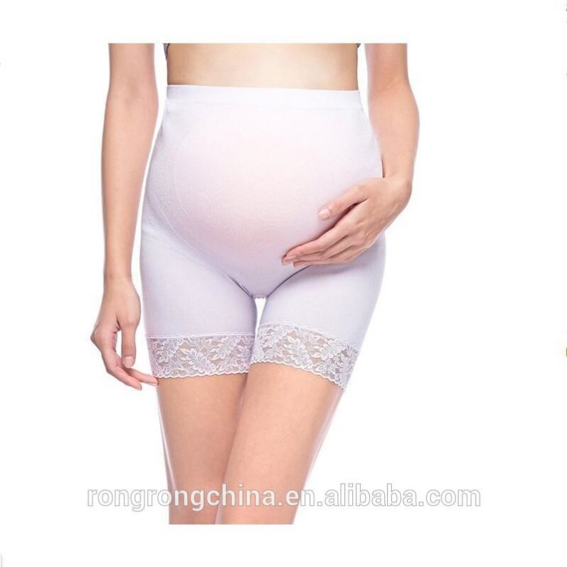 17 year Hosiery Supplier High Quality Women's Lace Seamless High Stretch Maternity Underwear Support Boyshort Panty