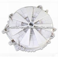 Large complex with slider and insert molding plastic injection mold for molding washing machine drum